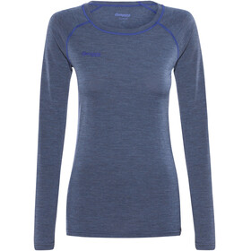 Bergans Cecilie Wool Long Sleeve Women Navy Melange/Ink Blue